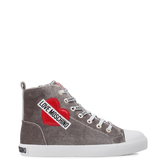 5bdf2571c75 Love Moschino Womens Grey Suede Sneaker